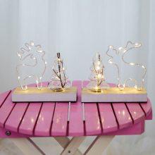 木制圣诞麋鹿装饰灯饰晚会生日婚礼装饰发光木摆件古董饰面
