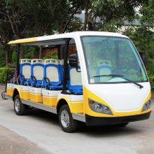 安步优品ABLQY145B橙白色豪华14座电动旅游观光车景区电瓶观光车社区便民车