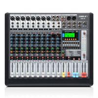 狮乐专业12路调音台天琴十号 KTV舞台演出音响设备 会议前级数字效果器厂