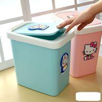 简单可爱台面桌面垃圾桶可爱餐厨果皮卡通书桌儿童房方便简易纸篓