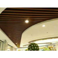 大型购物商场热转印木纹鋁方通-外牆木紋鋁四方管