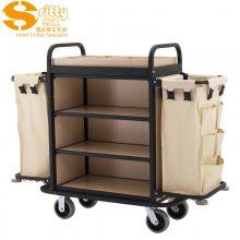 专业生产SITTY斯迪99.9803BGO金属木结构拆装式客房服务车/房口车/房间清洁车