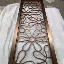 临沂不锈钢装饰花格厂家订制玫瑰金花格
