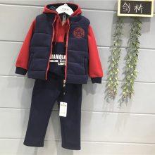 剑桥2019新款抓绒保暖套装 韩版童装批发货源 童装反季尾货批发