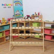 幼儿园实木家具 幼儿园儿童简易原木毛巾架厂家直销