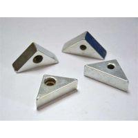 三角形状有带孔钕铁硼强力磁铁块 永磁材料生产厂家