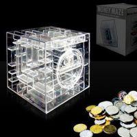 新奇特迷你儿童迷宫存钱罐 女生塑料透明储钱罐 创意礼物摆件