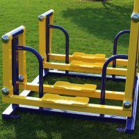 户外健身路径有哪些 两联平步机JY-462室外健身器材 双人漫步机公园体育设备公园