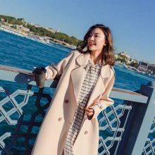 帕拉达 淘宝女装上衣外套 阿兰曼斯品牌女装 唯品会品牌哥弟复古猪皮卫衣绒衫