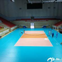德赟体育工程案例-上海市虹口区精武体育馆室内排球场建设施工