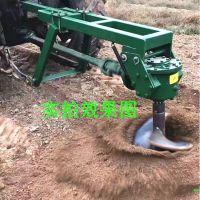 拖拉机后悬挂式挖坑机 苗圃果林植树挖坑机 大直径螺旋地钻机