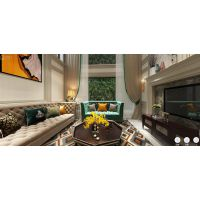 重庆万达文旅城联排别墅装修,当代美式设计方案效果图