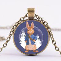 跨境新品彼得兔Peter Rabbit时光宝石吊坠项链外贸热销项饰批发