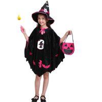 万圣节儿童演出服女童角色扮演cosplay服装小巫婆女巫派对表演服