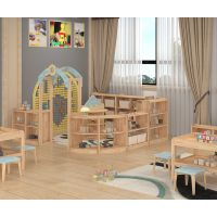幼儿园家具造型玩具柜儿童实木收纳置物架绿森堡厂家直销