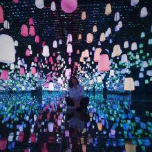 网红镜花宫球中球无限钻石星空失恋博物馆互动星空艺术LED圆球灯