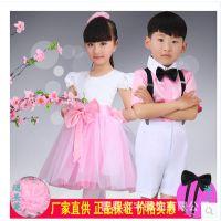 六一新款夏季儿童表演服男童女童演出舞蹈服合唱服礼服舞台演出服