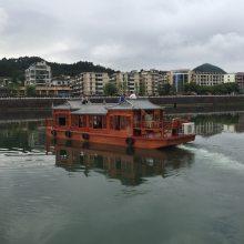 木船出售 南京中山陵公园 14米水上观光船 景区仿古游船 玻璃钢画舫船