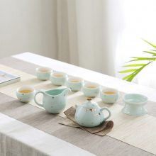 景德镇功夫茶具套装家用青瓷茶杯陶瓷现代客厅简约泡茶壶 定logo