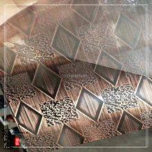 304不锈钢亮光红古铜5C蚀刻拉丝无指纹贴膜 冠宸直销不锈钢镀铜板