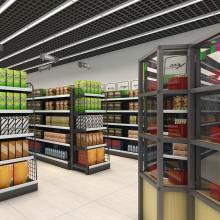 宣城货架批发 超市烟酒货架定制 木质食品货架生产商