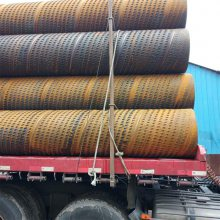 临时降水花管600mm规格,井壁管377mm桥式滤水管 渗水钢管厂