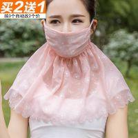 防哂口罩夏季防晒口罩女士护颈披肩一体面罩骑车防紫外线遮阳