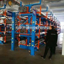 山东管材存放节省空间 伸缩式货架结构特点 重型悬臂式货架案例
