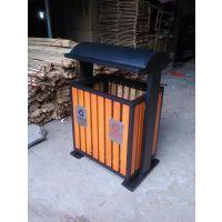 甘肃户外烤漆垃圾桶 分类垃圾果皮箱 钢结构实木环卫垃圾桶