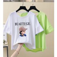 清仓广州夏季T恤品牌折扣尾货女装处理大码女士T恤几块钱称斤尾货批发