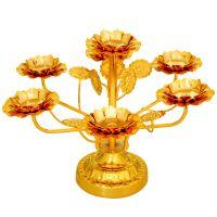 礼品摆件家用七星酥油灯底座多层莲花灯架灯托供佛灯蜡烛台居家供