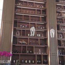 北京不锈钢花格金属装饰镜面香槟金隔断