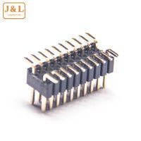 10PIN电子元件排针连接器双排单塑贴片排针间距1.27 SMT
