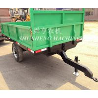 农用拖拉机挂斗定做 3吨农用拖斗 配备气刹刹车 减震弹簧钢板