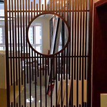 校区中式花格订做 仿木纹铝花格窗