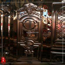 冠宸不锈钢艺术仿古铜KTV门板 不锈钢隔音冲压门板批发 红古铜
