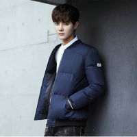 男士外套冬季潮流新款男装帅气棉衣韩版修身短款棉服加厚