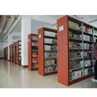 铜梁书店书架 图书馆书架 简约现代 学校阅览室双面书架厂家