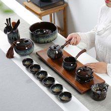 钧窑建盏窑变天目釉哥窑 新品陶瓷功夫茶具茶壶茶杯海家用套装