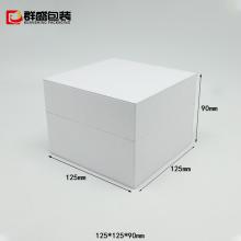pu皮革包装盒订制 手表首饰盒 手表VIP卡片皮盒 ***简约白色表盒