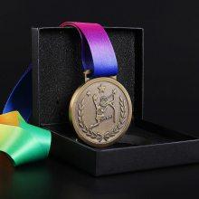 彩色织带奖牌定制,篮球赛比赛奖牌制作,找颁奖挂牌生产厂