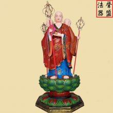 地藏王佛像厂家 贴金彩绘地藏王菩萨定做