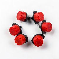厂家直销 八孔小红帽滴头 8孔红色可调节流量滴箭头 园艺滴灌设备