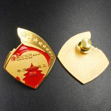 企业员工胸章定制,男女通用烤漆胸针徽章定制,镀金徽章厂家生产