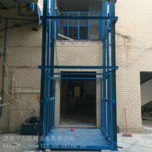 厂房导轨式电动简易液压升降货梯升降机平台双轨仓库上货梯小型