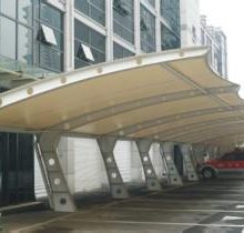 阳光板车棚-创锦帆装饰膜结构-丽水车棚