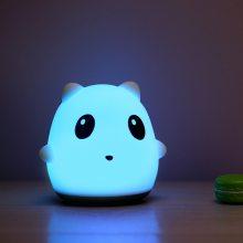 小夜灯创意熊宝宝硅胶拍拍卧室床头浪温漫睡眠喂奶护眼台灯