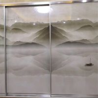 3D浮雕橱柜门打印机 橱柜门uv平板印花机厂家