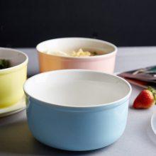 景德镇陶瓷碗三件套 骨瓷碗饭碗套装家用厨房收纳盒