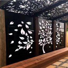包柱镂空铝板装饰_德普龙广告门头镂空铝板报价